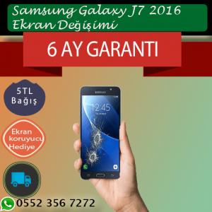 Samsung Galaxy J7 2016 ekran değişimi fiyatı 329 TL ,Kadıköy Samsung Ekran Değişimi