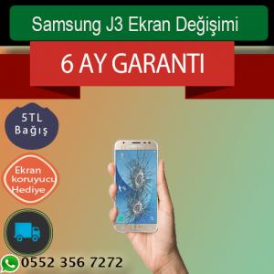 Samsung J3 Ekran ve Ön Cam Değişimi