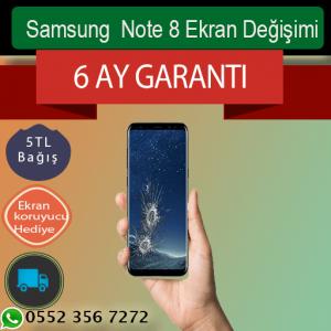 Samsung Note 8 Orjinal Ekran Değişimi 999 TL Kadıköy