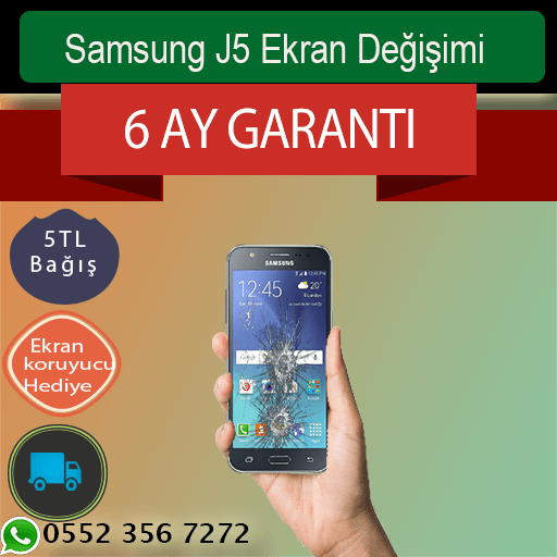 Samsung J5 Ekran Değişimi 219 TL