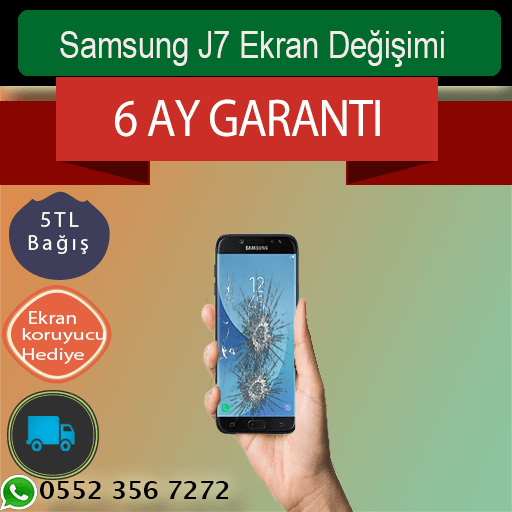 Samsung J7 Ekran Değişimi Fiyatı 339 TL, Kadıköy Samsung J7 Ekran Değişimi