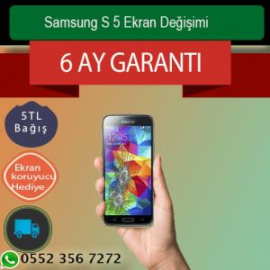 Samsung S5 Ekran ve Ön Cam Değişimi