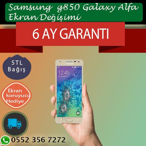 Samsung G850 Galaxy Alpha Ekran Değişimi Fiyatı 389 TL