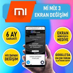 Xiaomi mi mix 3 ekran değişimi fiyatı